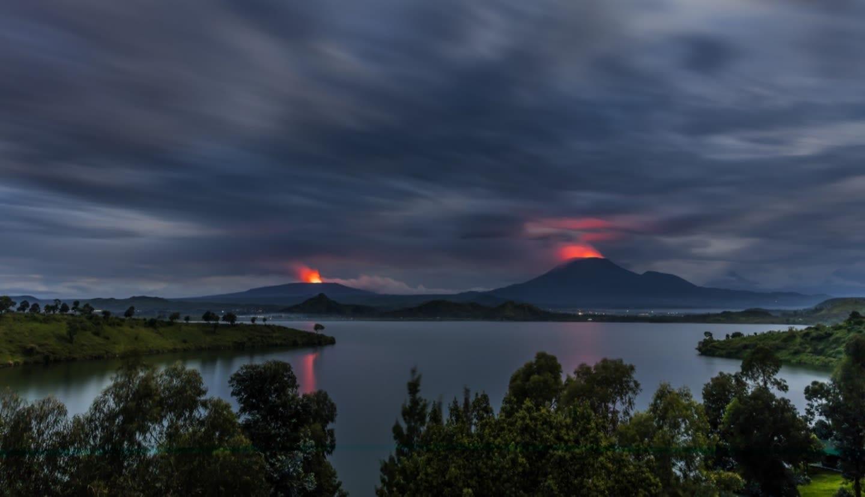 Mount Nyiragongo and Nyamuragira Volcanic Action