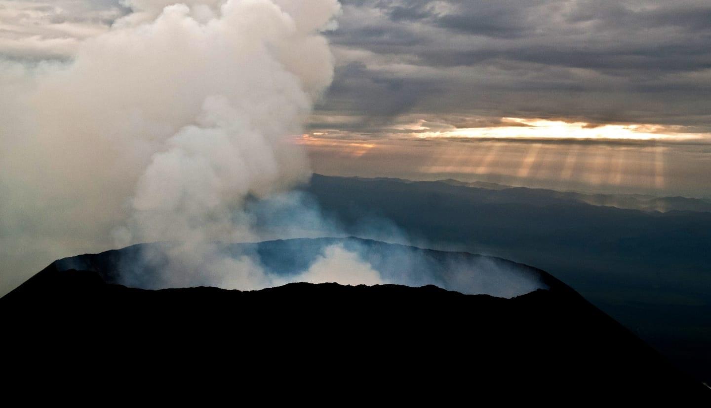 Mount Nyiragongo; Virunga National Park