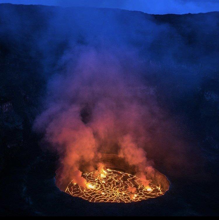 Mount Nyiragongo Lava Lake. Virunga National Park DRC