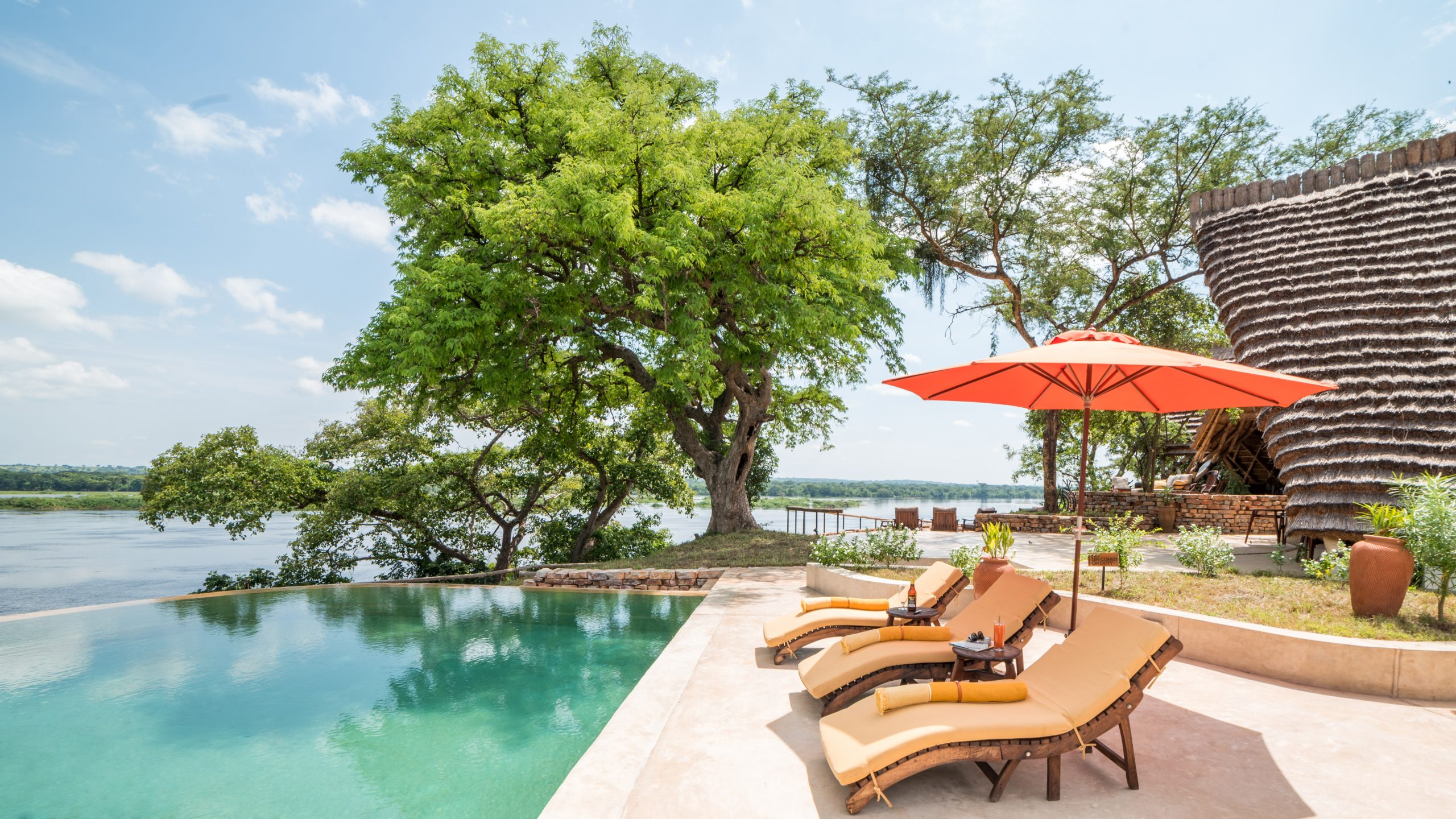 Nile Safari Lodge Infinity Pool.