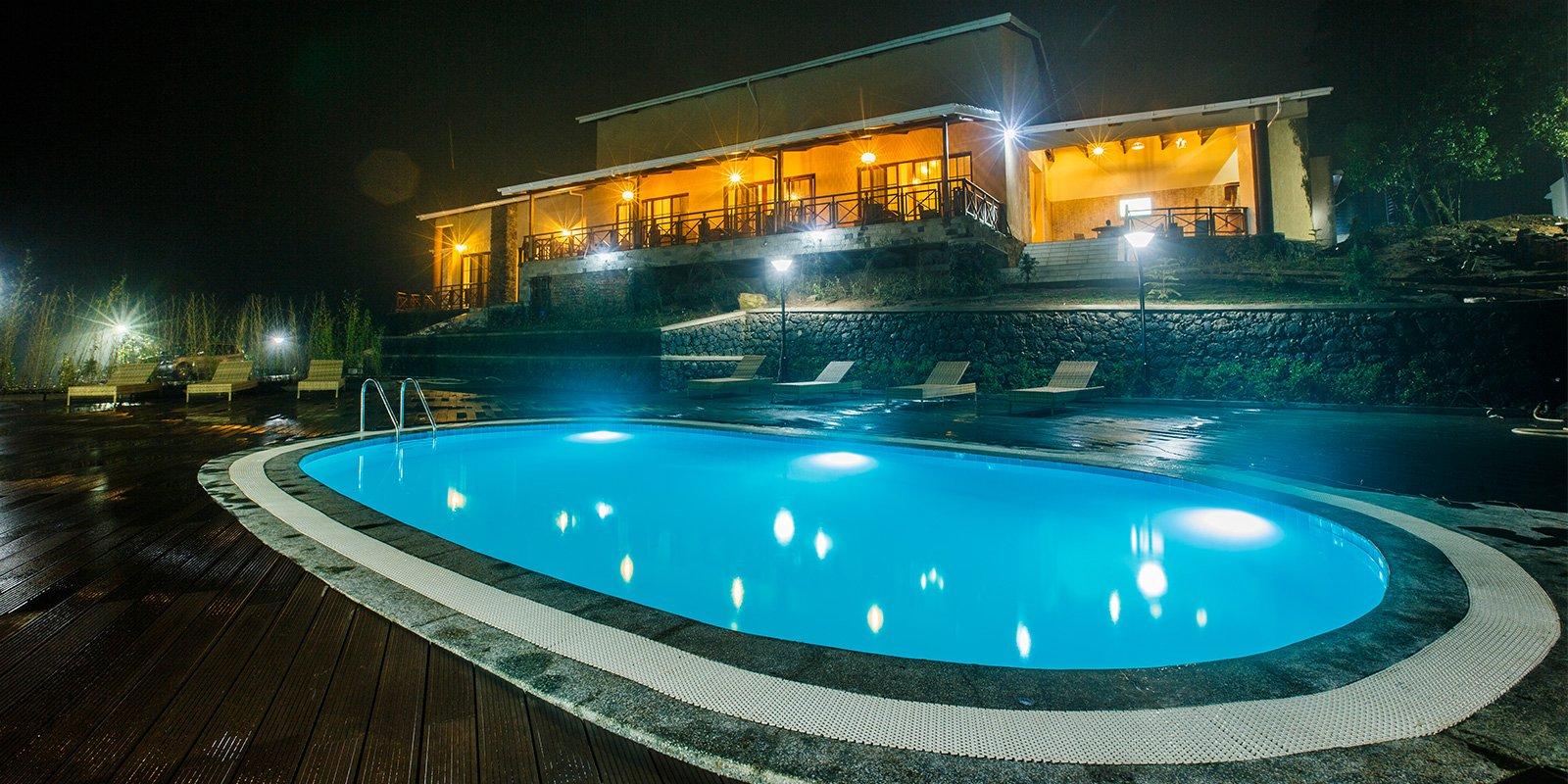 Gorilla Heights Lodge Pool. Uganda safari